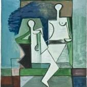 Marcoussis, Louis (Warschau 1883 - 1941 Cusset). Le couple blanc.  Mindestpreis:5.000 EUR Aufrufpreis: Schätzpreis:6.000 EUR