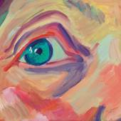 Maria Lassnig, Ohne Titel (Aug), spätestens 2000, Öl auf Leinwand, 33,5 x 42 cm, erzielter Preis € 229.000