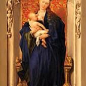 Ferdinand Georg Waldmüller, Maria mit dem Jesuskind, 1820, Öl auf Holz, 20,3 x 13 cm, Leihgabe der Pfarre Mönichkirchen/NÖ im Dommuseum. © Dommuseum, Wien
