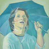Titelbild: Maria LASSNIG Selbstporträt mit Regenschirm Öl/Leinwand, 1971 Kunstsammlung des Landes Kärnten / MMKK, Klagenfurt