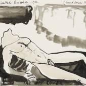 "Marlène Dumas (1953) ""Cultivated Emotion""   1986   Aquarell und Tusche auf Papier   22,5 x 27,5 cm Taxe: 6.000 – 8.000 Euro"