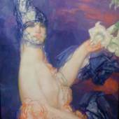 Pierre-Amédée Marcel-Beronneau (1869-1937) «Le Datura».  Exhibited in 1937 Oil on canvas Signed, 85x81 cm  Galerie Martel Greiner