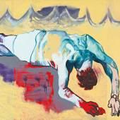Ohne Titel (aus der Serie Das Floß der Medusa) 1996 Öl auf Leinwand Estate of Martin Kippenberger, Galerie Gis