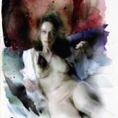 Martin Eder (1968) Ohne Titel   2009   Aquarell und Grafit auf Bütten   28,5 x 22,5 cm Taxe: 1.000 – 1.500 Euro