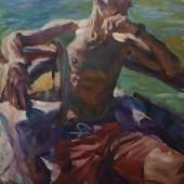 Martin-Jan van Santen, Captain 2019, Öl auf Leinwand, 105 x 80 cm