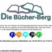 """Unternehmenslogo Antiquariat """"Die Bücher-Berg"""" - Martina Berg"""