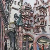 Christopher Lehmpfuhl, Martinstor (Freiburg), 2005, Öl auf Leinwand, 100 x 80 cm