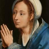 Nr. 402 728 Quinten Massys (1466 – 1530) Betende Maria Öl auf Holz, 44 x 33,5 cm Schätzpreis: € 500.000 – 700.000,-