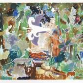 Matthias Weischer (1973) Tiger Lily | 2012 | Farblithografie auf Bütten | 69 x 40 cm Taxe: 1.200 – 1.500 Euro Online Only-Auktion vom 27. Sept. – 10. Okt. 2019