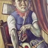 Selbstbildnis als Clown 1921 Öl auf Leinwand, 100 × 59 cm, Von der Heydt-Museum Wuppertal. © VG Bild-Kunst Bonn, 2011