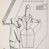 Max Ernst Aus dem Mappenwerk Fiat modes, pereat ars 1919 8 Lithographien (Druck 1970) [Robes], 1919 Je 41,5 x 30 cm Museum der Moderne Salzburg © Bildrecht, Wien, 2015, Foto: Rainer Iglar