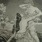 Max Klinger, Zelt, Opus XIV, II. Teil, Blatt 28: Bestürmung, 1916, Dauerleihgabe Sammlung Neuerburg, Stiftung Museum Kunstpalast, Düsseldorf