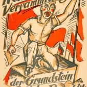 Max Pechstein, Die Nationalversammlung, Plakat, 1919  Foto: SHMH/MHG