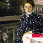 Detail: Boris Kustodijew, Porträt der Frau des Künstlers, 1903, © Staatliches Russisches Museum, St. Petersburg