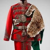 Uniform der königlich ungarischen Leibgarde Wien, um 1905/10 Gardisten in solchen Uniformen begleiteten die Schlittenfahrt am 22.1.1815 Monturdepot © KHM