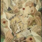 Aussteller: Galería Manuel Barbié Domino players André Masson (Balagny-sur-Oise 1896-1987 Paris)