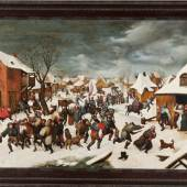 Massacre of the Innocents under the snow Martin Van Cleve (Antwerp, 1527-1581) Flemish school Oil on panel 75 x 107 cm.  Aussteller: Lux Art Consulting