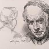 Ludwig Meidner »Selbstbildnis aus Skizzenbuch« (1951—55)