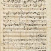 FELIX MENDELSSOHN-BARTHOLDY. Eigenhändiges Musikmanuskript: Matthäuspassion von Johann Sebastian Bach. 1830. Bisher unbekannt. CHF 120 000 – 160 000.