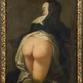 Martin van Meytens d. J., Kniende Nonne (Rückseite), um 1731 Öl auf Kupfer 28 x 21 cm © Nationalmuseum Stockholm
