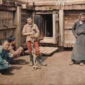 Albert Kahn, Les Archives de la planète Stephane Passet: Mongolei, Ulaanbaatar, Verurteilter und Wärter im Gefängnis, 25. Juli 1913 © Musée Albert-Kahn, Departement des Hauts-de-Seine
