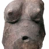 Torso einer schwangeren Frau Mayapán, Yucatán, Postklassik (900–1550 n. Chr.), Stuck © INAH. Museo Regional de Antropología, Palacio Cantón. Mérida, Yucatán