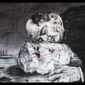 William Kentridge: WEIGHING …and WANTING, 1998 Videoinstallation, Länge: 6'20'' 35 mm, transferiert auf Video (Farbe, Ton) © Courtesy the artist, Marian Goodman Gallery (New York, Paris, London); Goodman Gallery (Johannesburg, Cape Town) and Lia Rumma Gallery (Naples, Milan)