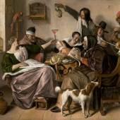 Jan Steen 'Soo voer gesongen, soo na gepepen', c. 1668-1670 Mauritshuis, Den Haag