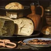 Clara Peeters Stilleven met kazen, amandelen en krakelingenMauritshuis, Den Haag