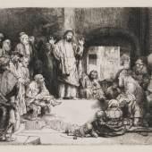 Rembrandt Harmensz. van Rijn, Christus predigend, um 1652, Graphische Sammlung, MHK