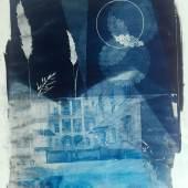 "Michael Wegerer ""Along the Way to Utopia"" , 2018 Cyanotypie, Siebdruck, 100x150cm (c) Michael Wegerer Copyright (Reprint free of charge): Loft 8"