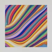 """Ian Davenport, Midday, aus der Serie """"Diagonals"""", 2019, Radierung, 62 x 62 cm, Ed. 30, signiert und nummeriert"""
