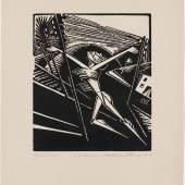 Constantin von Mitschke-Collande, Der begeisterte Weg, 1919, Holzschnitt, Kupferstich-Kabinett, Staatliche Kunstsammlungen Dresden Foto: Andreas Diesend
