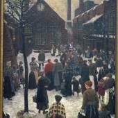 Hans Baluschek Mittag bei Borsig, 1911 Öl auf Leinwand  Kunstraum Kreuzberg / Bethanien © bpk / Knud Petersen