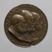 Porträtmedaille auf Heinrich Ribisch (1485–1544), Georg Hermann (1491– 1552) und Konrad Maier (um 1493 – 1565) (243 KB) Matthes Gebel (tätig ab 1523, † 1574 Nürnberg) (Zuschreibung) 1531 Bronze (Guss) Inv.-Nr. 14559bβ © KHM