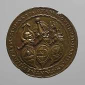Porträtmedaille auf Heinrich Ribisch (1485–1544), Georg Hermann (1491– 1552) und Konrad Maier (um 1493 – 1565) (253 KB) Matthes Gebel (tätig ab 1523, † 1574 Nürnberg) (Zuschreibung) 1531 Bronze (Guss) Inv.-Nr. 14559bβ © KHM
