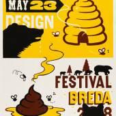 Harmen Liemburg (*1966), Sweet & Vicious – Graphic Design Festival Breda, 2008, Plakat, Siebdruck, 119 x 84 cm, Museum für Kunst und Gewerbe Hamburg, © Harmen Liemburg