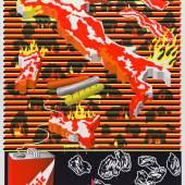 Harmen Liemburg (*1966), Inferno (Graphic Design Worlds – Print 2/5), 2011, Plakat, Siebdruck, 119 x 84 cm, Museum für Kunst und Gewerbe Hamburg, © Harmen Liemburg