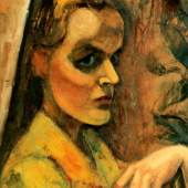 Mädchenbildnis, Anita Reé, vor 1922, Öl auf Pappe, auf Holz aufgezogen, 52 x 40 cm