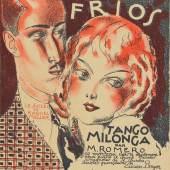 Roger de Valério, Besos frios – Tango Milonga, um 1925, Notentitel, Lithografie, 34,8 x 27,2 cm, Foto: Museum für Kunst und Gewerbe Hamburg