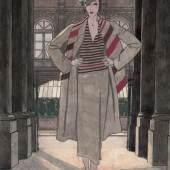 Pierre Morgue, Ohne Titel, 1931, veröffentlicht in Vogue UK (Titelbild), Tuschfeder und Aquarell, 35 x 25 cm, © Pierre Morgue