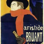 Henri de Toulouse-Lautrec (1864 – 1901) Plakat für die Auftritte von Aristide Bruant in seinem Kabarett Le Mirliton, Paris 1892 Lithografie, 133,8 x 91,7 cm Museum für Kunst und Gewerbe Hamburg