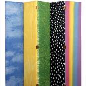 Jim Dine (*1935) Himmel, Sonne, Wiese, Schnee und Regenbogen, London, 1969 Holz, Siebdruck auf Leinwand © Museum für Kunst und Gewerbe Hamburg