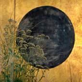 Ikeda Koson (1801-1866) Die sieben Herbstpflanzen mit Vollmond, Japan, späte Edo-Zeit, Mitte 19. Jh. Tusche, Farben und Gold auf Papier © Museum für Kunst und Gewerbe Hamburg