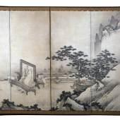 Unkoku Tōeki (1591-1644), Der chinesische Dichter Tao Yuanming (365-427), mit Zither und Chrysantheme, Japan, Edo-Zeit, 1618-1644, Tusche und leichte Farben auf Papier, © Museum für Kunst und Gewerbe Hamburg
