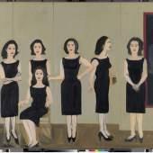 """Alex Katz, Gemälde """"The Black Dress"""",1960, München, Sammlung Brandhorst, ©  VG Bild-Kunst, Bonn 2013© bpk / Bayerische Staatsgemäldesammlung"""