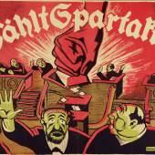 Karl Jakob Hirsch (1892–1952), Wählt Spartakus!, Jahreswende 1918/19, Lithografie, 69 x 94,5 cm, Museum für Kunst und Gewerbe Hamburg, © Universitätsbibliothek der LMU München, Nachlass Karl Jakob Hirsch