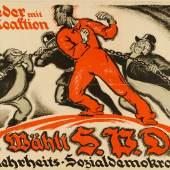 Walter Riemer (1896–1942), Nieder mit der Reaktion. Wählt SPD – Mehrheits-Sozialdemokratie. Wahlplakat der SPD, Januar 1919, Museum für Kunst und Gewerbe Hamburg, Alexander M. Cay (1887–1971)