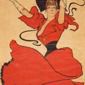 Dudley Hardy (1867–1922) A Gaiety Girl, 1893/94 Lithografie, 195 x 96 cm Museum für Kunst und Gewerbe Hamburg Public Domain