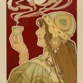 Henri Privat-Livemont (1861–1936) Rahjah Kaffee, 1899 Farblithografie, 78,8 x 44,5 cm Museum für Kunst und Gewerbe Hamburg Public Domain